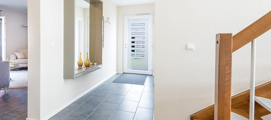 En snygg husentré är välkomnande - särskilt om den är vackert inredd