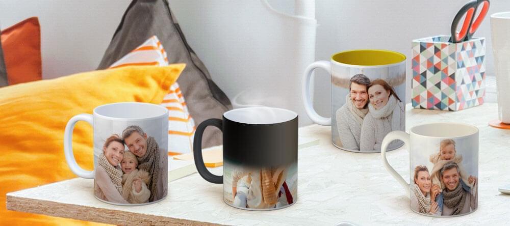 Vi vet att alla tycker om att dricka ur sin egen mugg - utforma en individuell fotomugg för varje medlem i din familj!