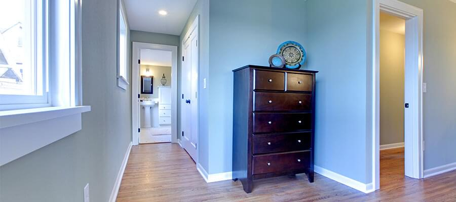Pastellfärger i korridoren kan ha ett stort inflytande på effekten av dina bilder