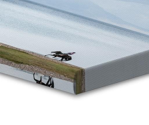 foto canvas speglvand kant