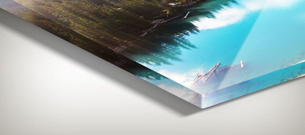 Briljante kleuren en superscherpe resolutie - foto's achter plexiglas zijn premium afdrukken.