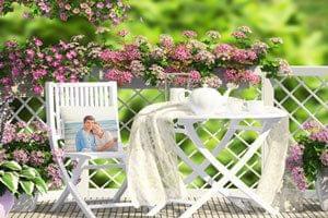 Kleurrijke kussens of foto kussens voor het balkon
