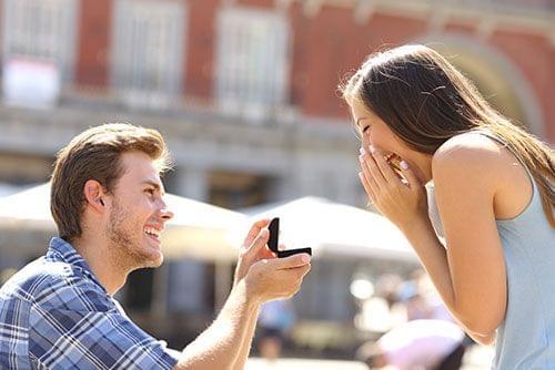Een taak voor je beste vriend – stiekem een foto van het aanzoek maken