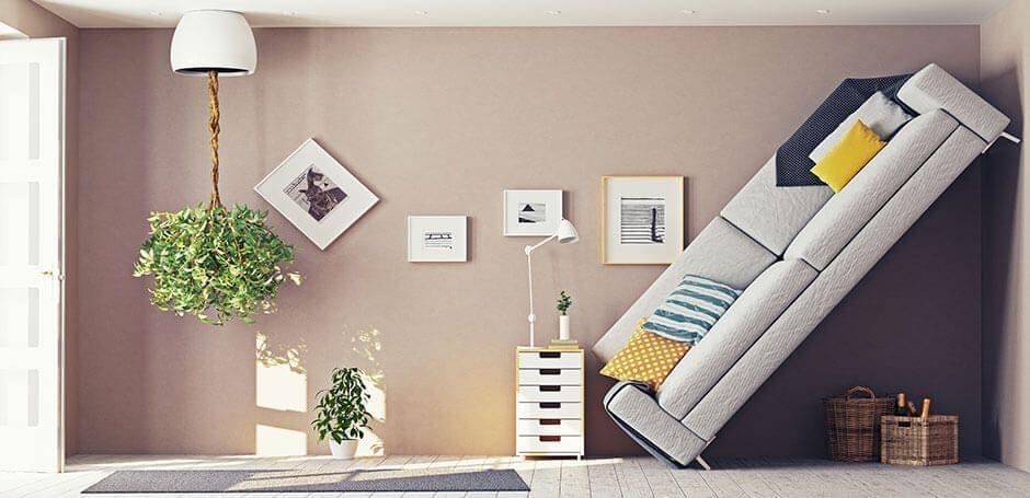 Waar de sofa te plaatsen? De interieurinrichting moet precies juist zijn...