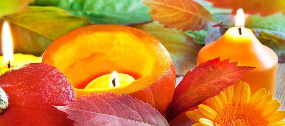 Unieke versieringen eenvoudig gemaakt: planten, kaarsen, fruit - of alles samen