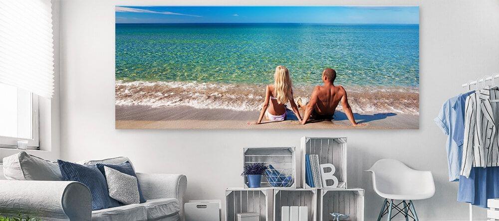 De eenvoudigste manier om de kleuren van de nieuwe trend te gebruiken: jouw vakantiefoto op een XXL canvas afdruk