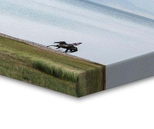 canvas foto gevouwen rand