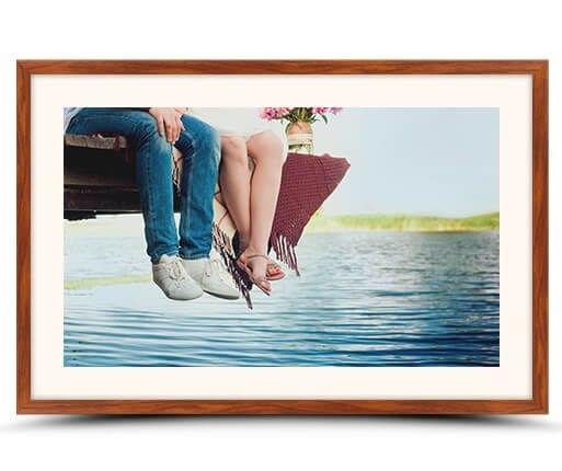 fotolijst met passepartout rozenhout flair voorzijde