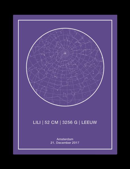 persoonlijke sterrenhemel poster