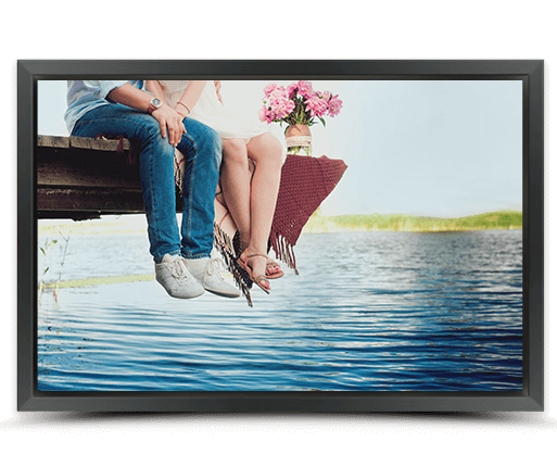 photo on canvas with black frame
