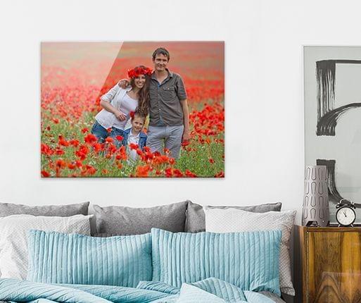 acrylic photo prints room view
