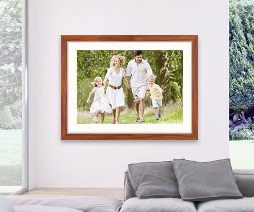 framed photo prints room view