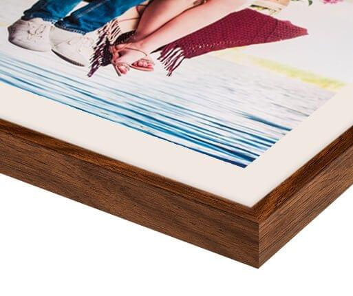 photo print with walnut flair frame detailed view