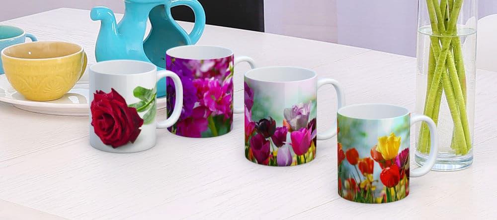 Bringt Farbe in den Alltag – bunte Blumenmotive auf deinen Tassen
