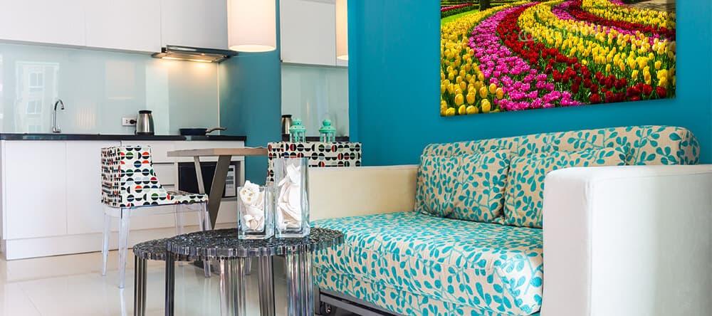 Mit Blau und Weiß bringst du Entspannung in dein Zuhause