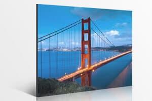 Golden Gate Bridge auf einer Fotoleinwand