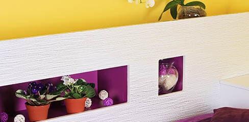 Mix aus Farben und Stilen an der Wand