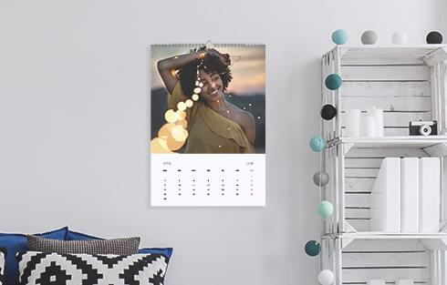 fotokalender im raum