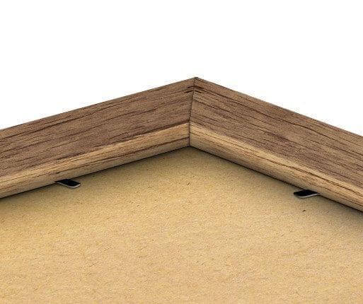 Rückseite des Rahmens in Oak-Optik