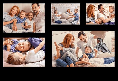 Fotos auf Wand-Collagen