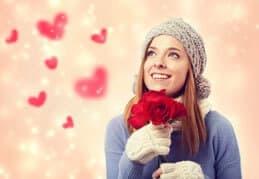 Frau Valentinstag