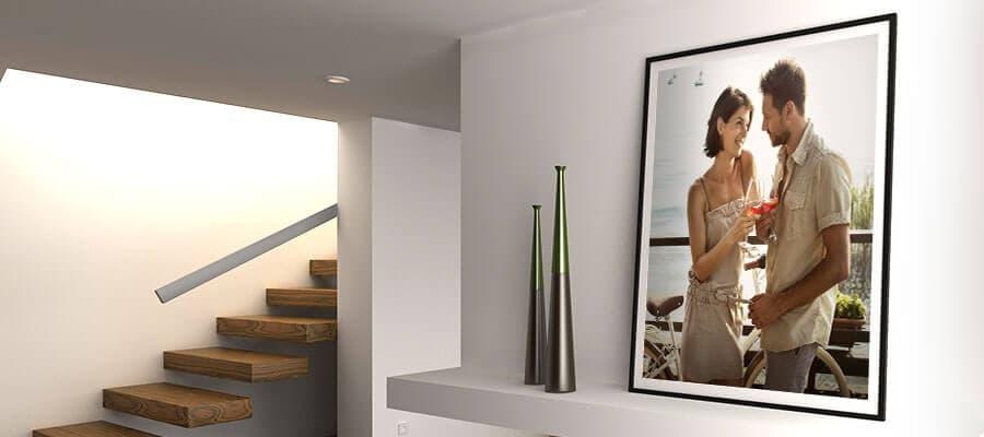 Ob Leinwand mit Schattenfugenrahmen oder Poster mit Passepartout – ein Rahmen zieht Blicke auf jedes Bild