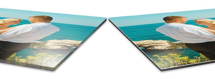 Kristallklares Acrylglas oder edles Alu-dibond – beides setzt dein Foto perfekt in Szene