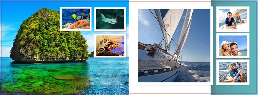 Bild-in-Bild-Kompositionen vermitteln viele Eindrücke auf einer einzigen Seite