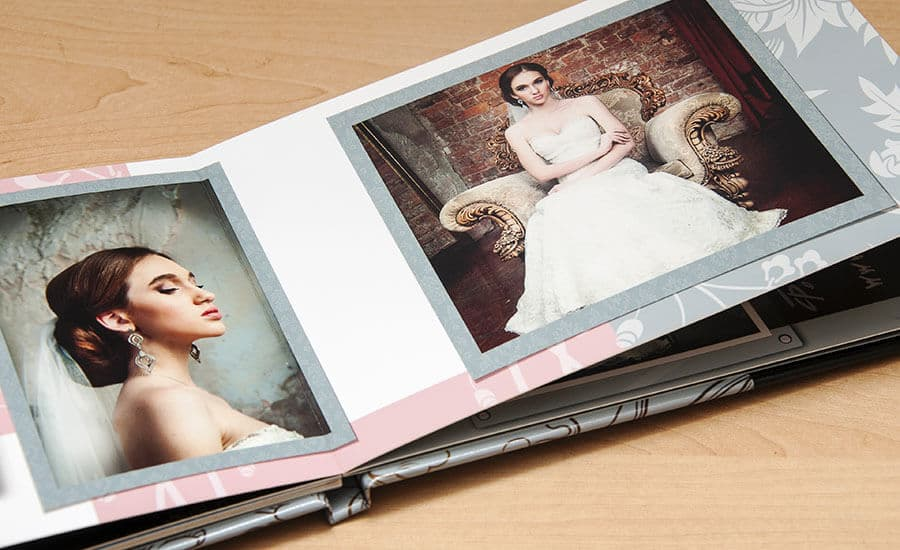 Ein Hochzeitsbuch mit edel gestaltetem Layout – mit unserer Fotobuch-Software ganz einfach