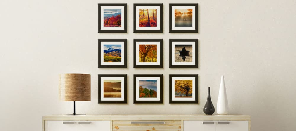 Gleichgroße Bilder in gleichem Abstand als sauberes Raster – ein Blickfang!