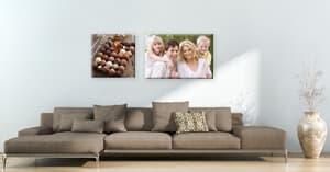 Familienbilder harmonisch aufhängen