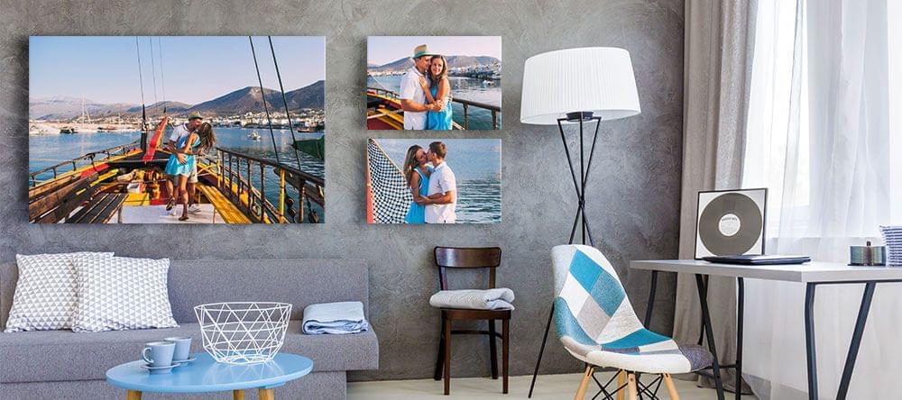 Orden creativo o algunas fotos grandes: ¿cuál te apetece para tu casa?