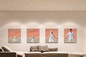Focos de techo: Dirigen la atención exactamente sobre tus obras maestras