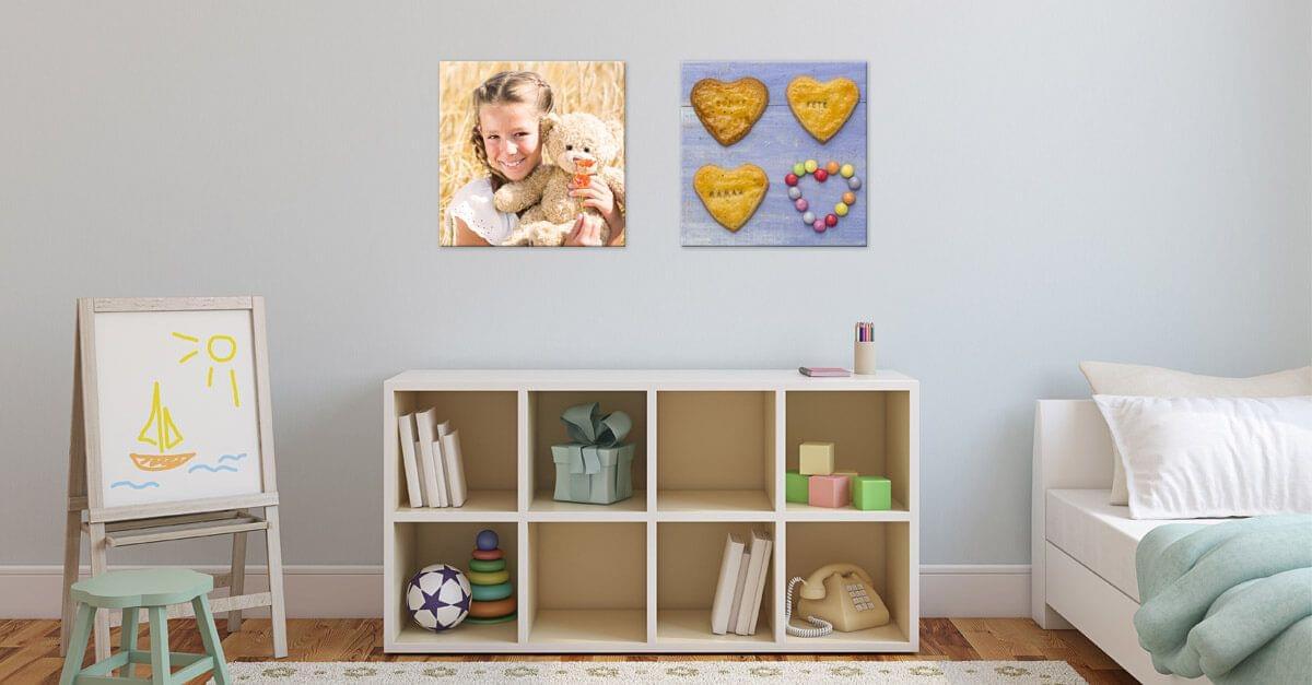 No pongas fotos grandes por encima de los muebles pequeños