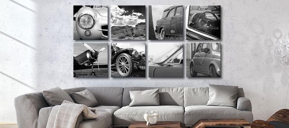 El arte de pared en cuadrícula le da un aspecto distinguido a las habitaciones y queda estupendamente