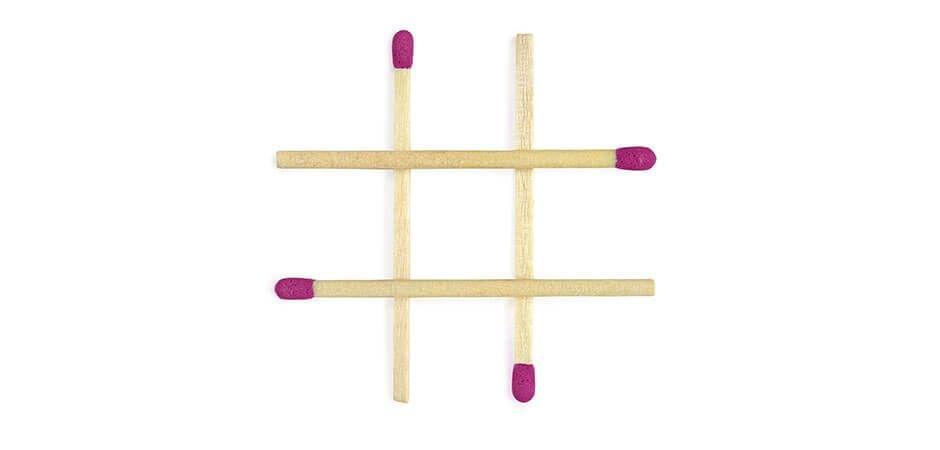 Imagina tu pared dividida en 9 partes, como el tres en raya.