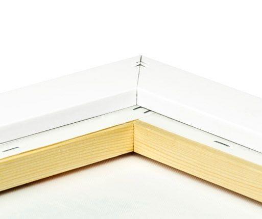 foto lienzo marco premium blanco detalle posterior