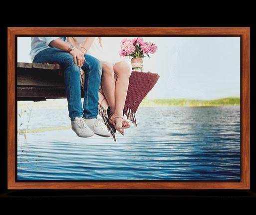 foto lienzo marco premium estilo palo de rosa vista frontal