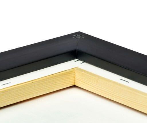 foto lienzo marco premium negro brillante detalle posterior
