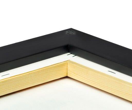 foto lienzo marco premium negro mate posterior