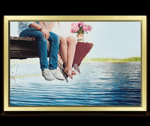 foto lienzo marco premium oro vista frontal