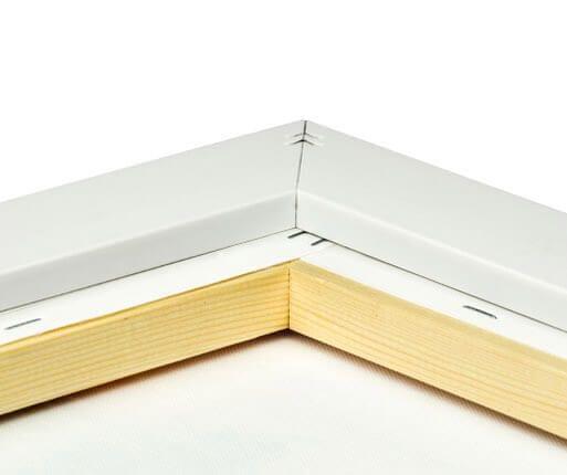 foto lienzo marco premium plata detalle posterior
