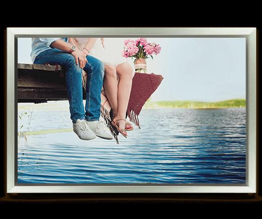 foto lienzo marco premium plata vista frontal