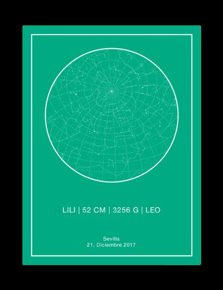 mapa estelar personalizado