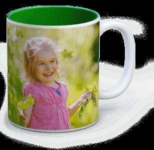 photo sur mug colore