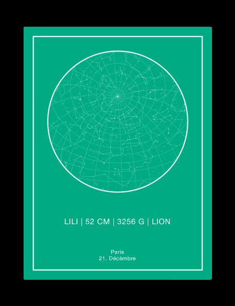 carte d'étoiles personnalisée