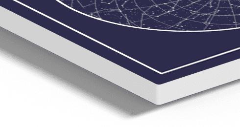 carte d'étoiles personnalisée en détail