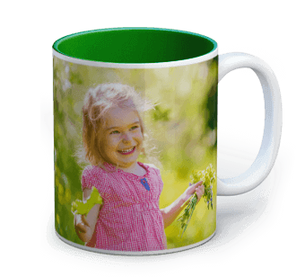 photo sur mug colore