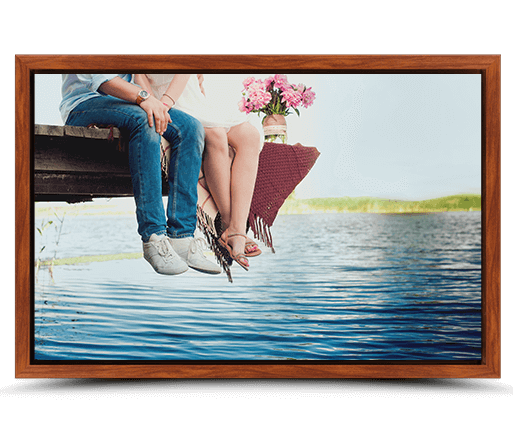canvas print rosewood flair frame front view