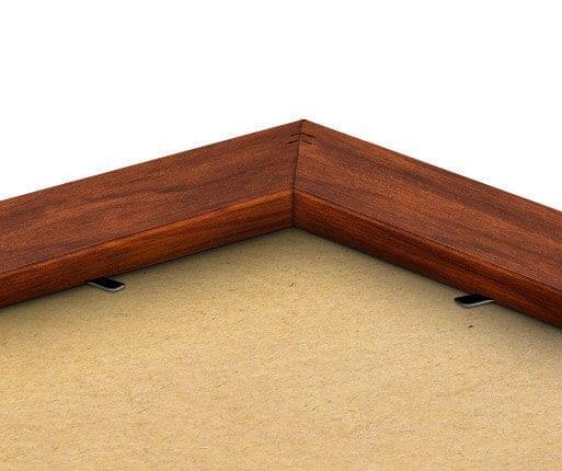 Rückseite des Rahmens in Palisander-Optik